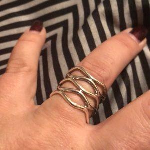 Sterling Silver Open Loop Ring
